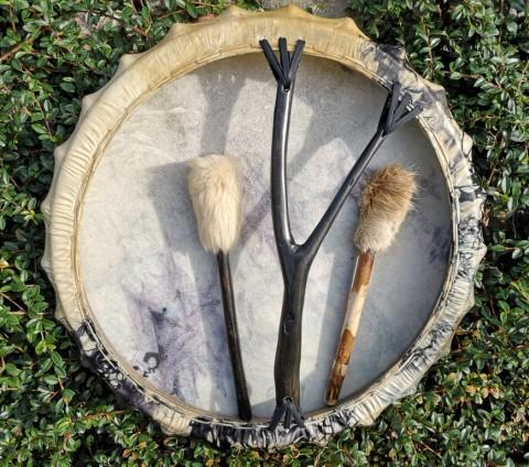 Бубен ПРАНА - 590 руб. Мембрана 56 см (кожа - коза, ручка - липа).