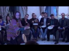 """Новогодний барабанный круг для компании """"Айти Шаг"""" 24.12.16 - финальная композиция"""