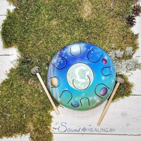Хэппи-драм (глюкофон) 22 см на 10 язычков планетарный (луна)